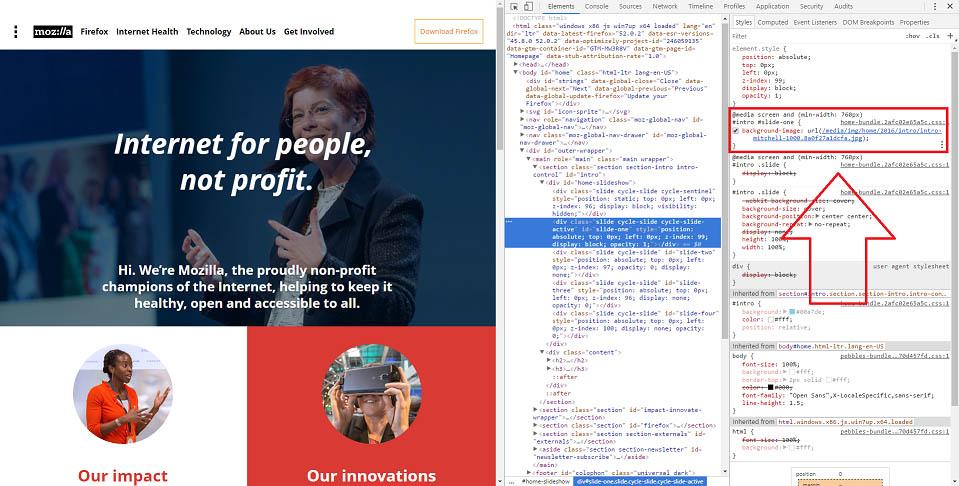 Mozilla CSS Background Image copy