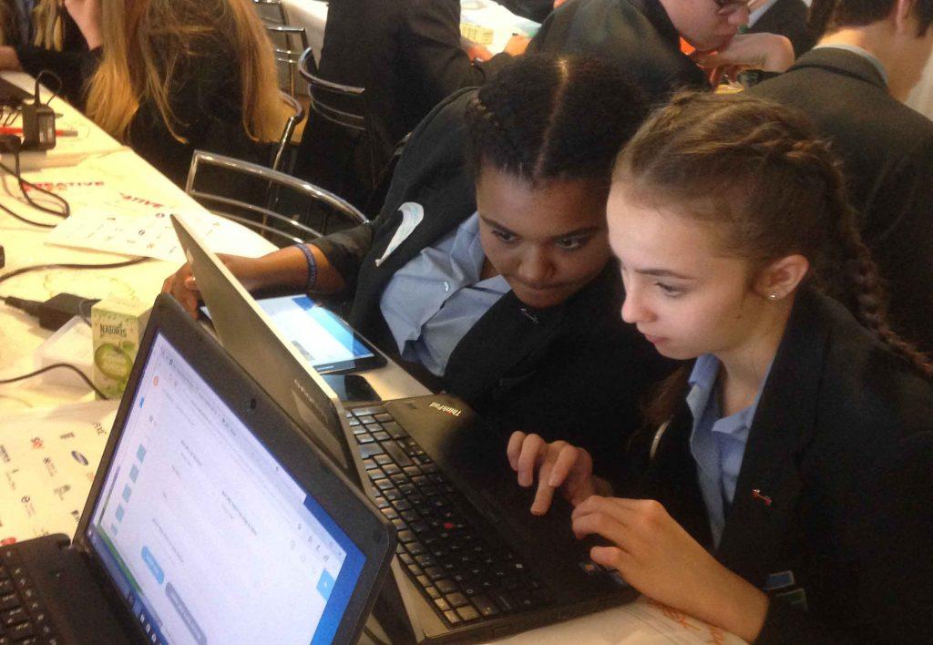 Creative Cafe Children on computer